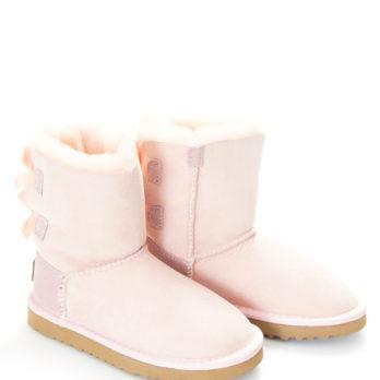 Угги детские (S374 PINK) розовый / замша