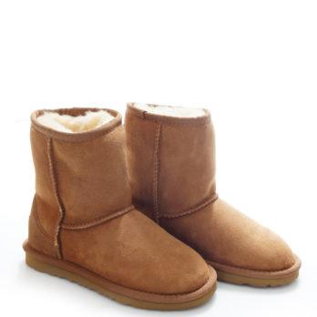 Угги детские зимние (S366 BROWN) коричневый / замша