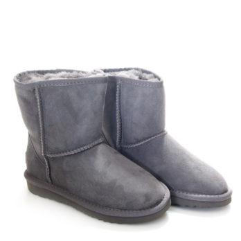 Угги детские (S-297) серый / замша